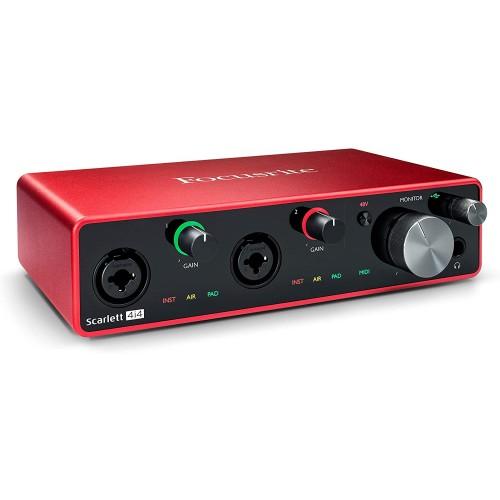 Focusrite Scarlett 4i4 3rd Gen Audio Int...