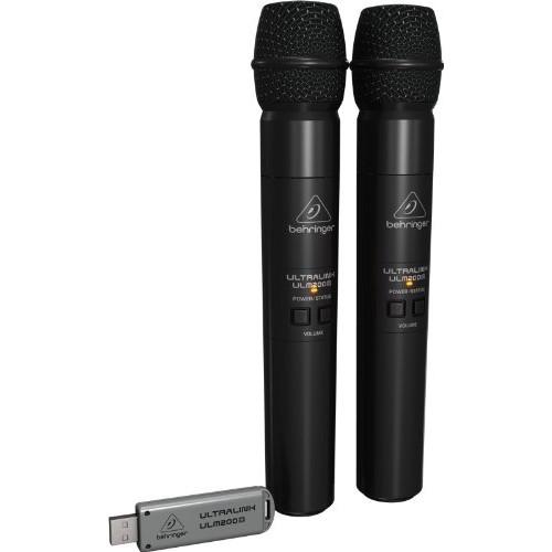 Behringer Ultralink ULM202USB Wireless Dual Handheld Microphone System