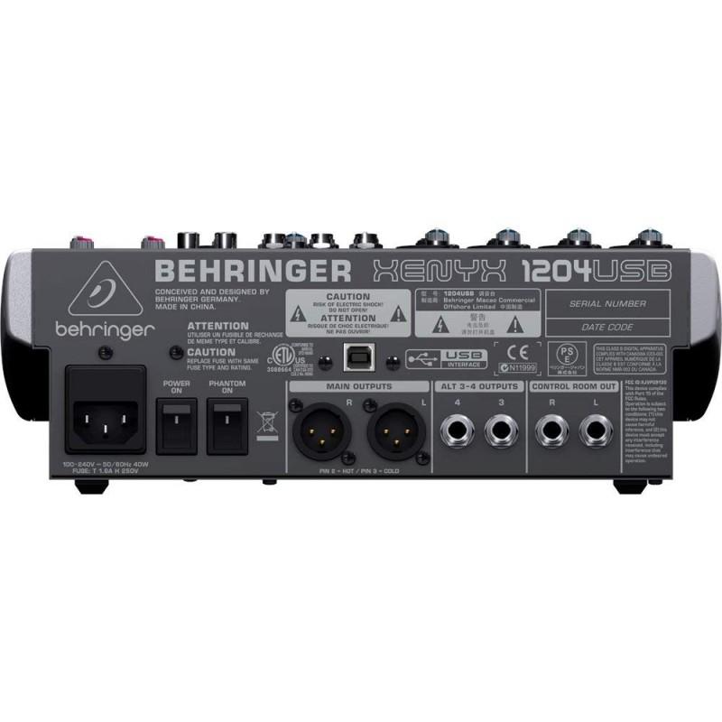 Behringer Xenyx 1204USB Mixer with USB