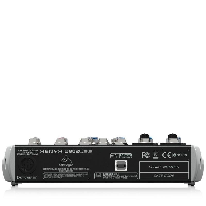 Behringer Xenyx Q802USB Mixer with USB