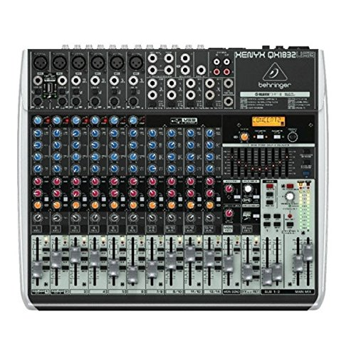 Behringer Xenyx QX1832USB Mixer with USB and Effects