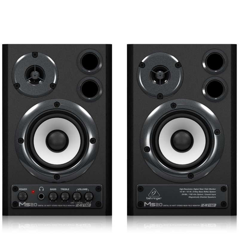 "Behringer MS20 3.6"" Powered Monitor System with SPDIF"
