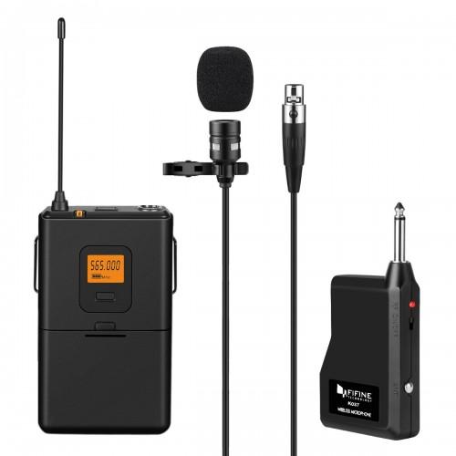 FIFINE K037 20 Channel UHF Wireless Lava...