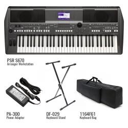 Yamaha PSR-S670 Portable Keyboard (Pack)...