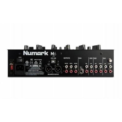 Numark M6USBBLACK 4-Channel USB DJ Mixer